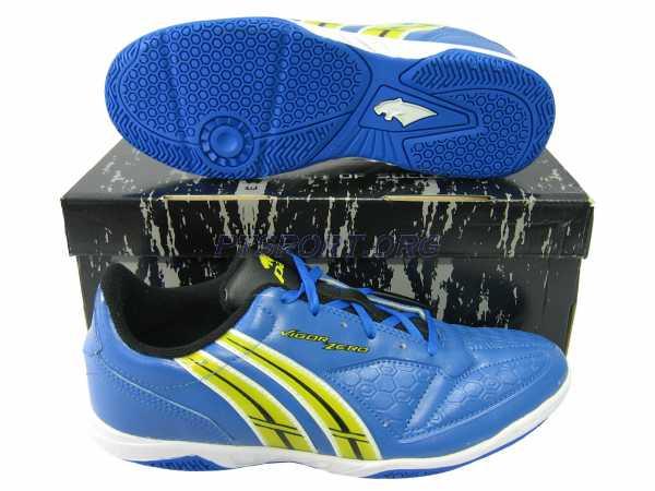 รองเท้ากีฬา รองเท้าฟุตซอล PAN PF-14V5 VIGOR ZERO ELVALOY SHOES น้ำเงินเหลือง