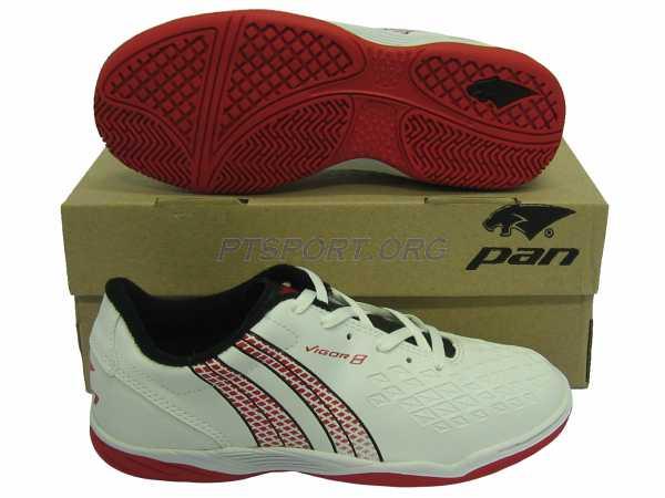 รองเท้ากีฬา รองเท้าฟุตซอล PAN PF-14X8 VIGOR 8 S ELVALOY ขาวแดง