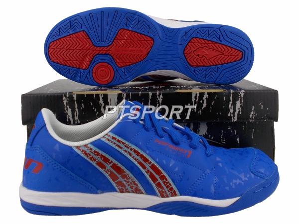 รองเท้ากีฬา รองเท้าฟุตซอล PAN PF-14Y3 PERFORMAX VII SHOES สีน้ำเงินแดง