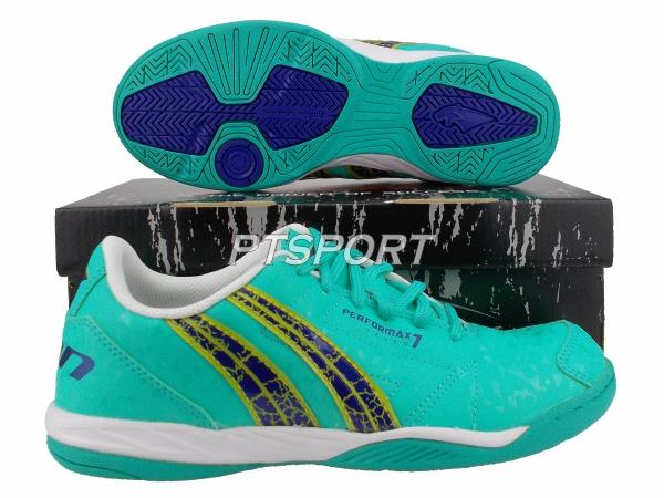 รองเท้ากีฬา รองเท้าฟุตซอล PAN PF-14Y3 PERFORMAX VII SHOES สีเขียวกรม