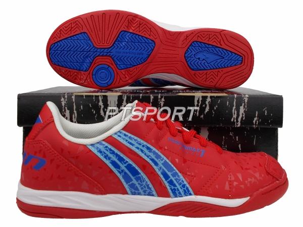 รองเท้ากีฬา รองเท้าฟุตซอล PAN PF-14Y3 PERFORMAX VII SHOES สีแดงน้ำเงิน