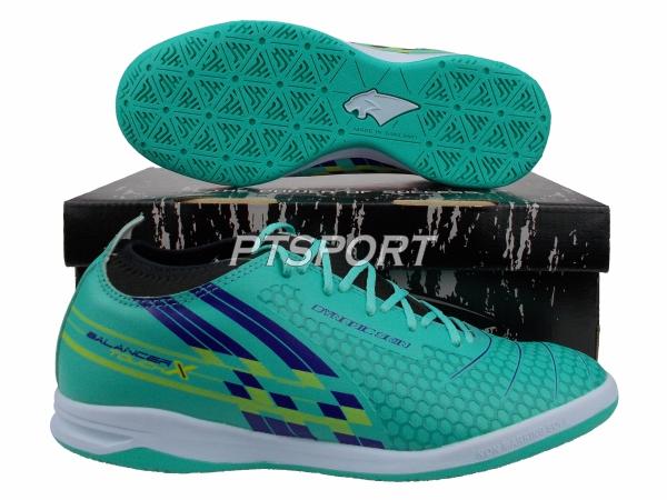 รองเท้ากีฬา รองเท้าฟุตซอลหุ้มข้อ PAN PF-14Y4 BALANCER TOUCH X II ELVALOY SHOES สีเขียวกรม