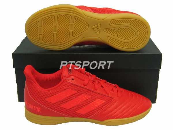 รองเท้ากีฬา รองเท้าฟุตซอลเด็ก Adidas CM-8552 PREDATOR 19.4 IN SALA J แดง
