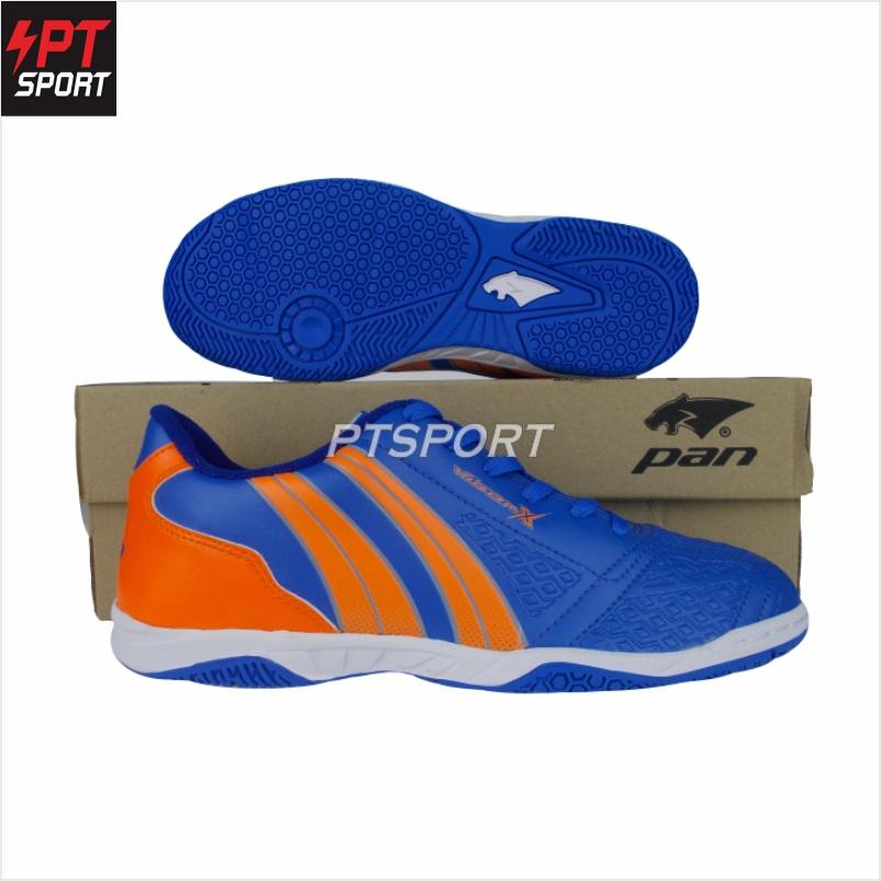รองเท้ากีฬา รองเท้าฟุตซอลเด็ก PAN PF-14JA สีน้ำเงินส้ม,BO