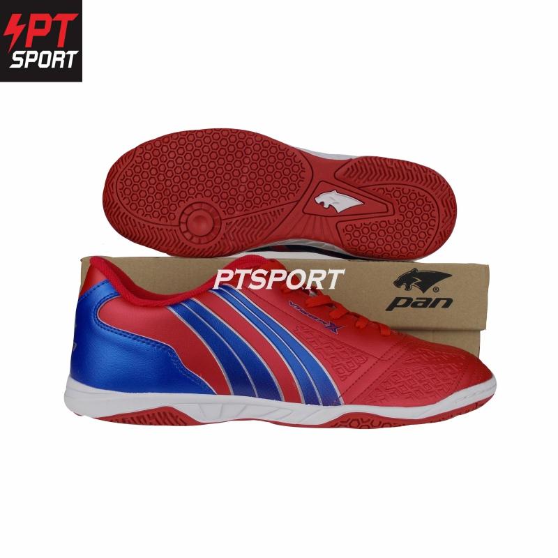 รองเท้ากีฬา รองเท้าฟุตซอลเด็ก PAN PF-14JA สีแดงน้ำเงิน,RB