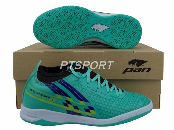 รองเท้ากีฬา รองเท้าฟุตซอลหุ้มข้อเด็ก PAN PF-14Y5 BALANCER TOUCH X II JR ELVALOY SHOES สีเขียวกรม