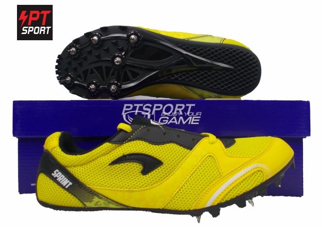 รองเท้ากีฬา รองเท้าตะปูสำหรับวิ่ง GRAND SPORT 370032 สีเหลือง