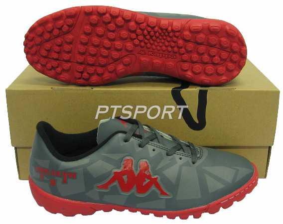 รองเท้ากีฬา รองเท้าฟุตซอลร้อยปุ่ม KAPPA GF-14G5 STEALTH II TF เทาแดง