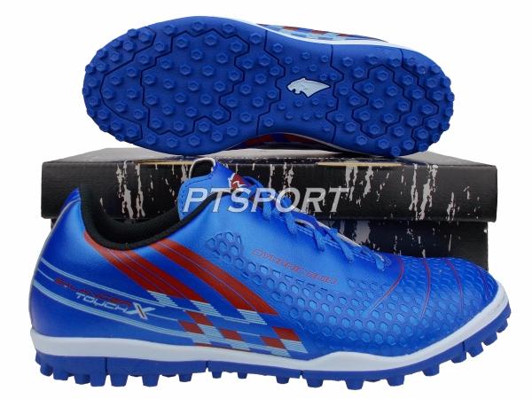 รองเท้ากีฬา รองเท้าร้อยปุ่ม PF-15AQ BALANCER TOUCH X II TVRF ELVALOY SHOES สีน้ำเงินแดง