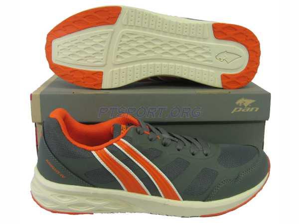 รองเท้าวิ่ง รองเท้าจ๊อกกิ้ง PAN PF-16L7 KNIGHT IV เทาส้ม