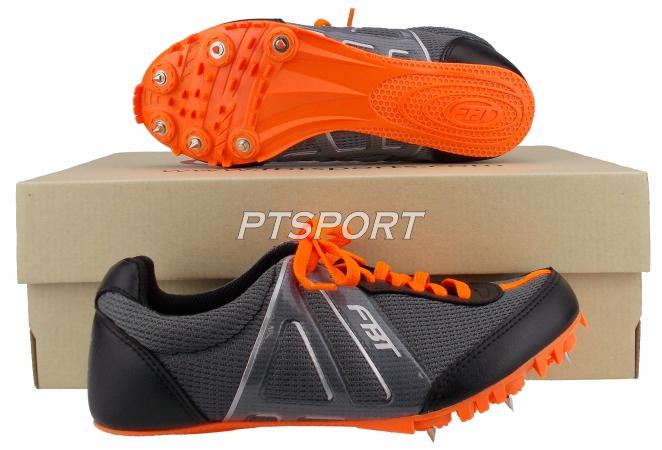 รองเท้ากีฬา รองเท้าวิ่งตะปู FBT WIN-2 สีเทาส้ม