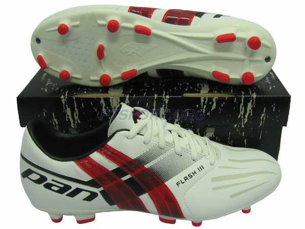 รองเท้ากีฬา รองเท้าสตั๊ด PAN PF-1505 FLASH III ขาวแดง