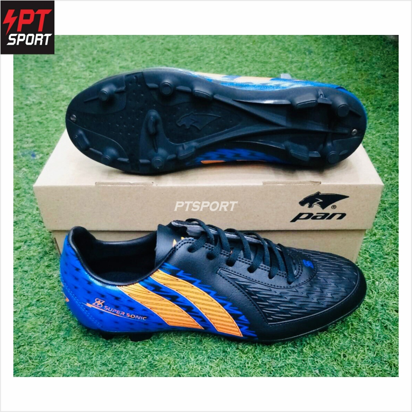 รองเท้ากีฬา รองเท้าสตั๊ดเด็ก PAN PF-1571 ดำน้ำเงิน AB