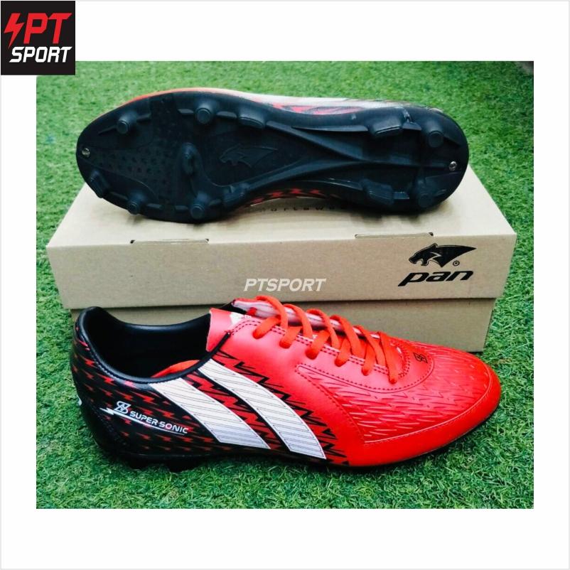 รองเท้ากีฬา รองเท้าสตั๊ดเด็ก PAN PF-1571 แดงขาว RW
