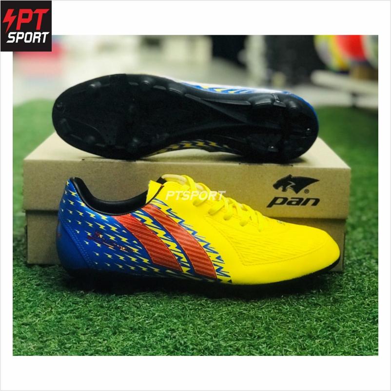 รองเท้ากีฬา รองเท้าสตั๊ดเด็ก PAN PF-1571 เหลืองน้ำเงิน YB
