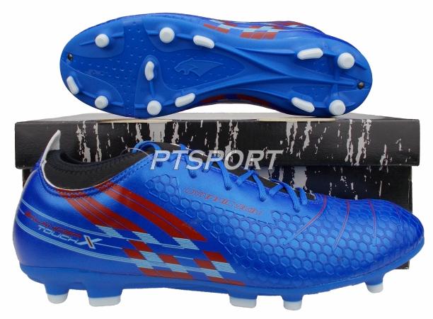รองเท้ากีฬา รองเท้าสตั๊ดหุ้มข้อ PAN PF-15AR BALANCER TOUCH X II ELVALOY SHOES สีน้ำเงินแดง
