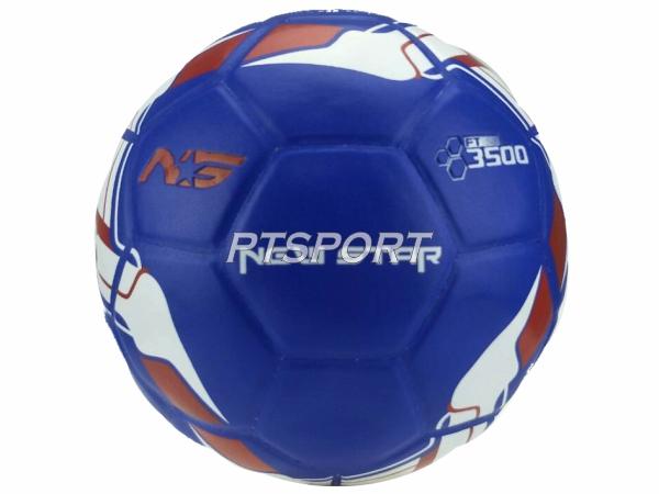 ฟุตบอลหนังอัด NEW STAR 3500 สีน้ำเงิน เบอร์5