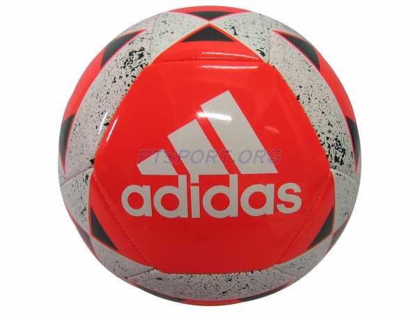 ลูกฟุตบอลหนังเย็บ เบอร์ 5 adidas CD-6580 STARLANCER V ส้มขาว