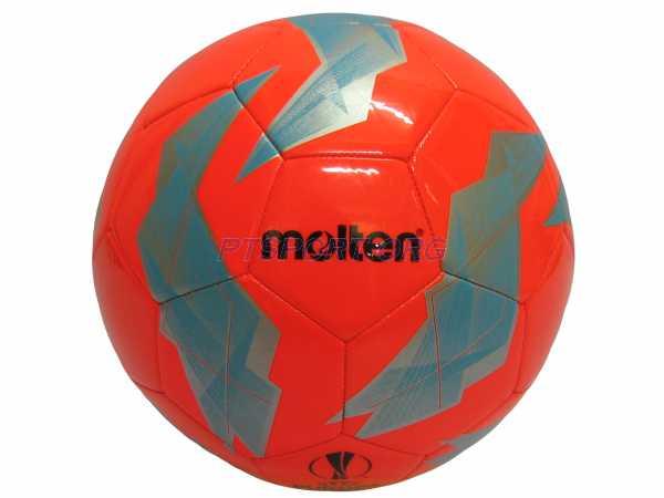 ลูกฟุตบอลหนังเย็บ เบอร์ 5 Molten F5U1000-G18 ส้ม