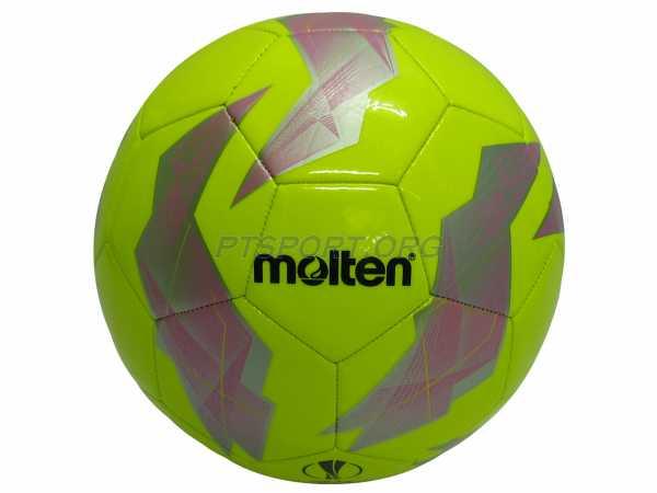 ลูกฟุตบอลหนังเย็บ เบอร์ 5 Molten F5U1000-G18 เหลือง