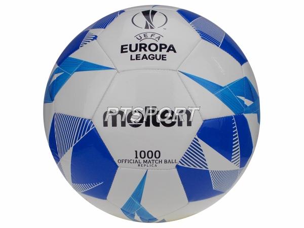ลูกฟุตบอลหนังเย็บเบอร์5 MOLTEN F5U1000 ขาวน้ำเงิน