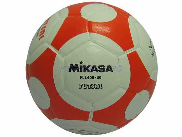 ฟุตซอลหนังอัด PVC MIKASA FLL400 ส้มขาว