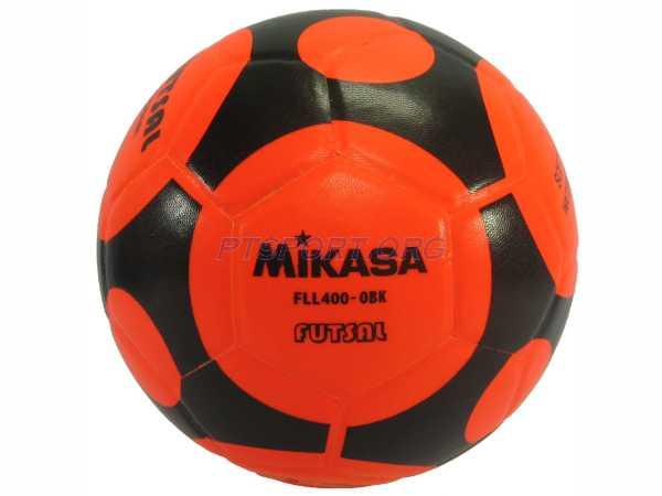 ฟุตซอลหนังอัด PVC MIKASA FLL400 ส้มดำ