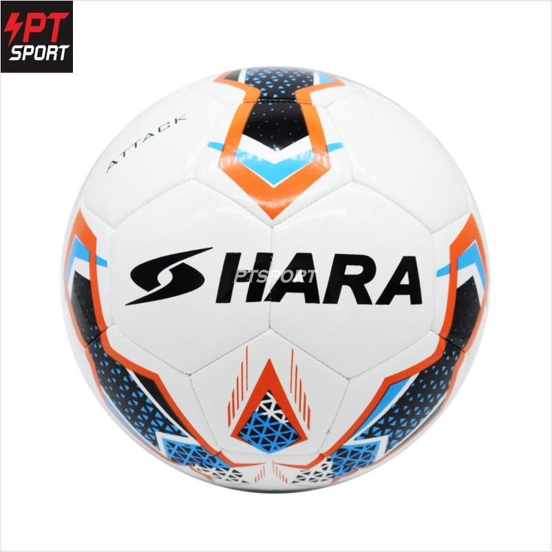 HARA ลูกฟุตบอล หนังPUนิ่ม ลูกฟุตบอลหนังเย็บ เบอร์5 (แถมฟรีเข็มสูบลูกบอล+ตาข่ายใส่บอล)