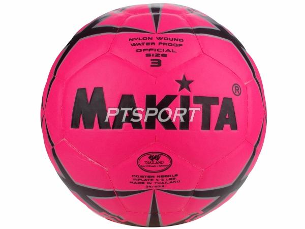 ลูกฟุตบอลหนังอัด MAKITA NO.3 สีชมพู