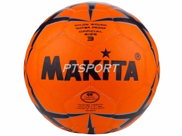 ลูกฟุตบอลหนังอัด MAKITA NO.3 สีส้ม