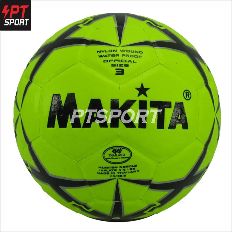 ลูกฟุตบอลหนังอัด MAKITA NO.3 สีเหลือง