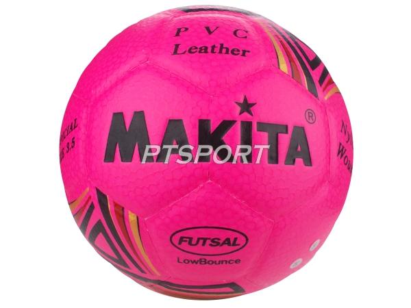 ลูกฟุตบอลหนังอัด Football MAKITA เบอร์ 4 สีชมพู