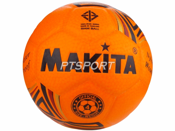 ลูกฟุตบอลหนังอัด Football MAKITA สีส้ม