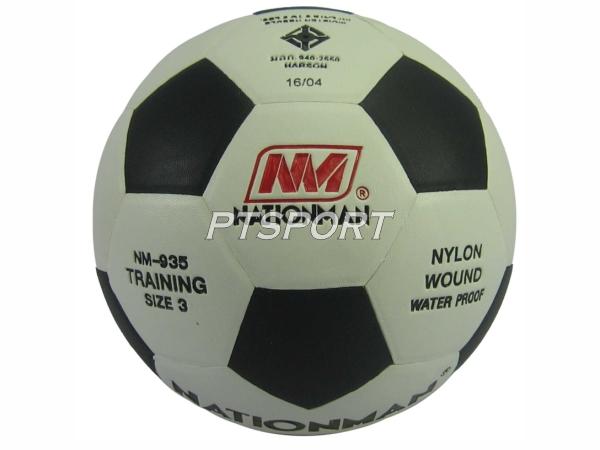 ลูกฟุตบอล หนังอัด Nationman 935 เบอร์ 3 ขาวดำ