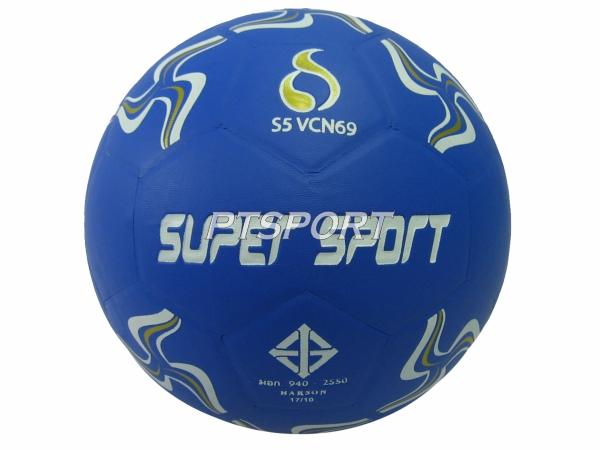 ลูกฟุตบอลหนังอัด SUPER SPORT S5VCN69 น้ำเงิน