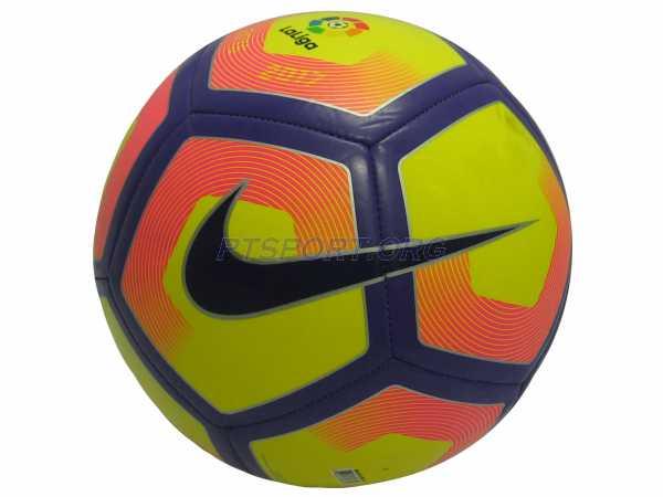 ลูกฟุตบอลหนังเย็บ เบอร์ 5 NIKE SC2992-702 PITCH ส้ม-เหลือง