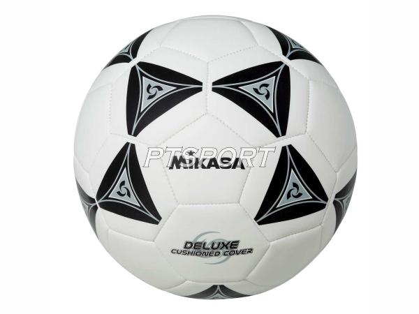 ลูกฟุตบอลหนังเย็บ Football มิกาซ่า MIKASA SS50-BK ขาวดำ