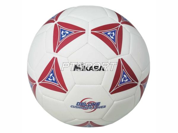 ลูกฟุตบอลหนังเย็บ Football มิกาซ่า MIKASA SS50-R ขาวแดง