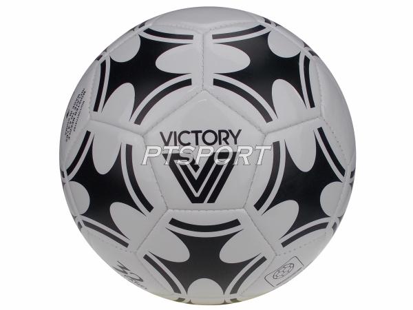 ลูกฟุตบอลหนังเย็บเบอร์5 VICTORY V6 ขาวดำ