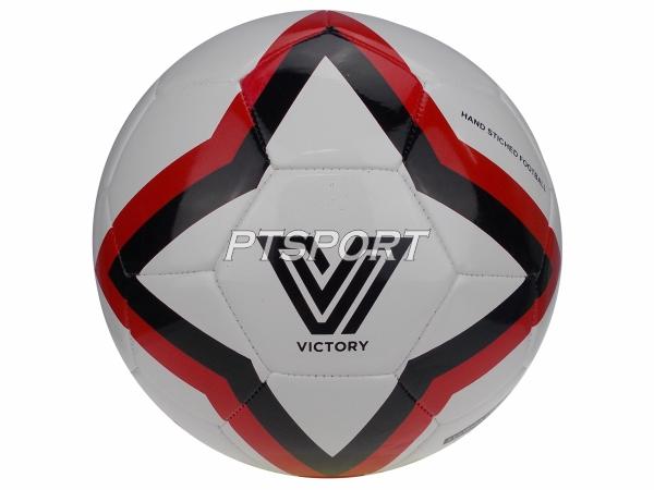 ลูกฟุตบอลหนังเย็บเบอร์5 VICTORY V9 ขาวแดง