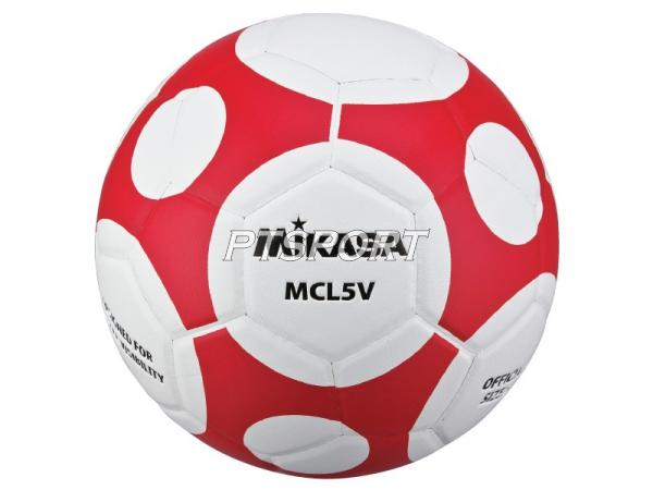 ลูกฟุตบอลหนังอัด Football มิกาซ่า MIKASA MCL5V ขาวแดง