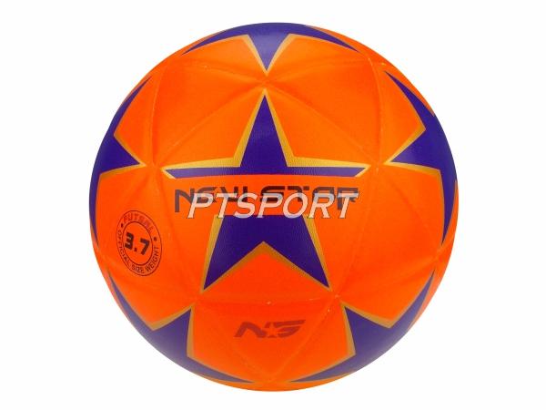 ลูกฟุตซอลหนังอัด NEW STAR FBT ลายดาว ไซส์ 3.7 สีส้ม
