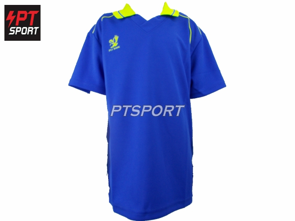 เสื้อกีฬาเด็กคอปก ยี่ห้อ FLYHAWK เด็ก รุ่นFH- C974 สีน้ำเงิน
