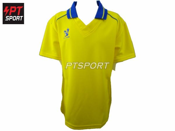 เสื้อกีฬาเด็กคอปก ยี่ห้อ FLYHAWK เด็ก รุ่นFH- C974 สีเหลือง