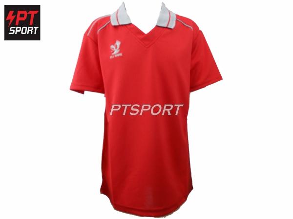เสื้อกีฬาเด็กคอปก ยี่ห้อ FLYHAWK เด็ก รุ่นFH- C974 สีแดง