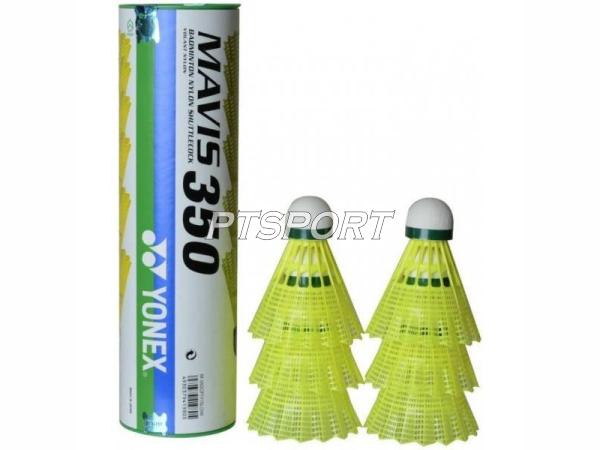 YONEX ลูกแบดมินตันพลาสติก Mavis 350 ฝาเขียว 1หลอด มี6ลูก