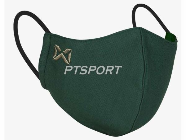 Warrix หน้ากากผ้าปิดจมูก รุ่นแผ่นกรอง ซักได้ MASK ผ้าปิดปาก แมสผ้า สีเขียว